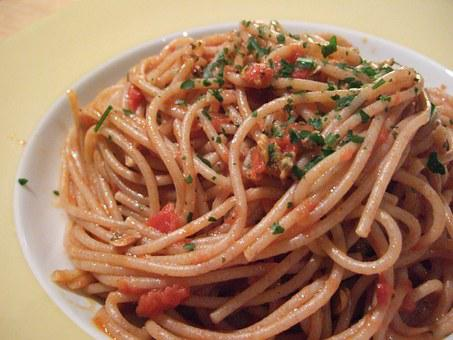 Spaghetti Spelled, Clams, Wholemeal Spaghetti