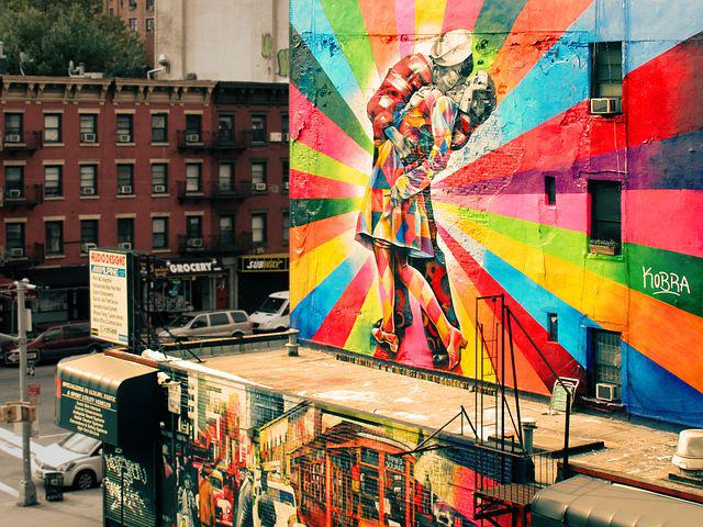 Facade, Graffiti, Wall, Colorful, Colors, Paint, Couple