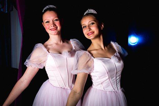 Dancers, Girls, Pink Dress, Princes, Crown, Russian