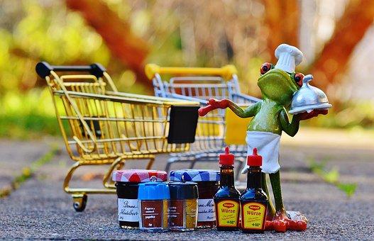 Shopping Cart, Shopping, Frog, Cooking, Funny, Cute
