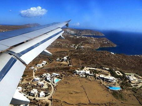 Luftbildaufnahme, From The Plane, Wing, Cyclades