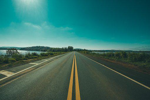 Asphalt, Countryside, Empty, Grass, Guidance, Highway