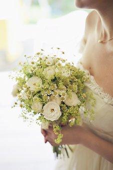 Beautiful, Bouquet, Bride, Flowers, Girl, Marriage