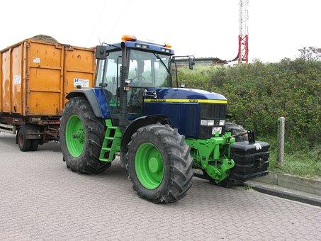 Tractor, Vehicle, Agriculture, Wheels, John Deere