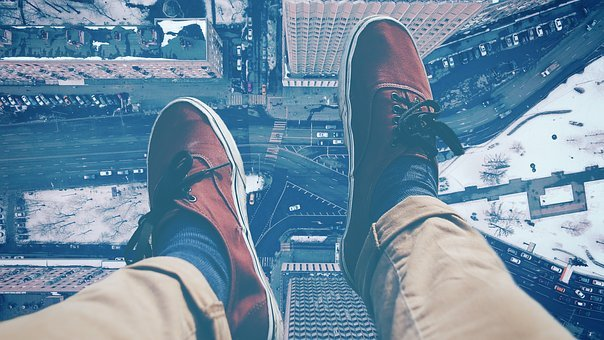 Legs, Shoes, Sit, City, Skyscraper, Feet, High