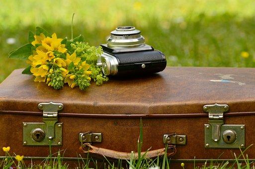 Luggage, Leather Suitcase, Old, Nostalgia, Nostalgic
