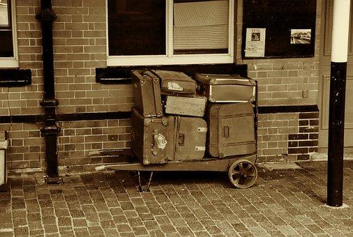 Retro, Retro Luggage, Travel, Suitcase, Luggage, Old