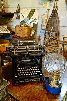 Typewriter, Manual, Antique, Mechanical