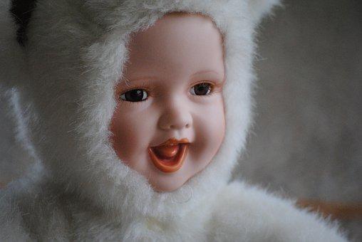 Porcelain, Doll, Toy, Vintage, Girl, Dress, Antique
