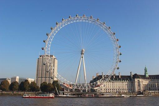 London Eye, London, Thames, Circus, River, Eye, England