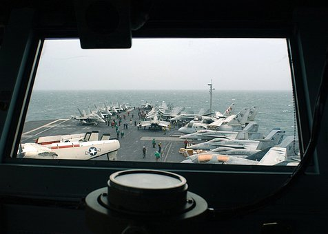 Persian Gulf, Ship, Sea, Ocean, Water, Aircraft