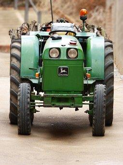 Tractor, John Deere, Green