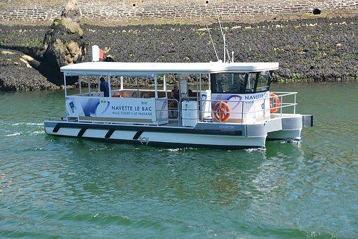 Boat, Tray, Shuttle, Transport, Water, Passengers, Blue