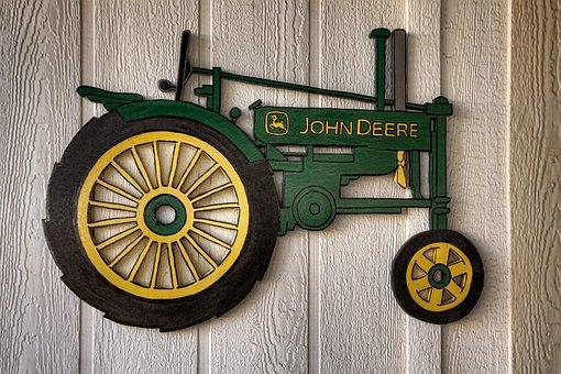 Tractor, Artisanry, John Deere Tractor, Yard Art