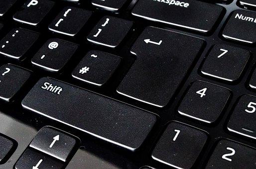 Keyboard, Close-up, Modern, Laptop, Key, Alphabet, Row