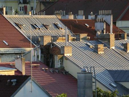Roofs, Roof, Antennas, City, House Roofs, Homes
