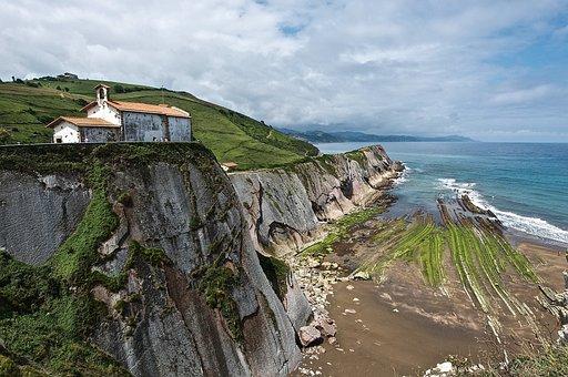 Cliff, Rocks, Blue, Landscape, Nature, Water, Beach