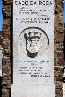 Cabo Da Roca, Monument, Portugal, Extreme, West, Europe