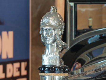 Minerva 1928, Head Ornament, Car, Automobile, Vehicle