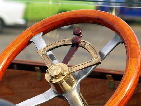 Steering Wheel, Oldtimer, Old, Car, Classic, Retro