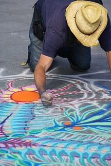 Artist, Chalk, Drawing, Artistic, Color, Creative