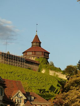 Esslingen, Castle, Castle Wall, Thick Tower