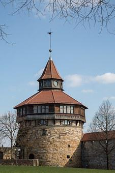 Tower, Middle Ages, Esslingen, Thick Tower, Castle