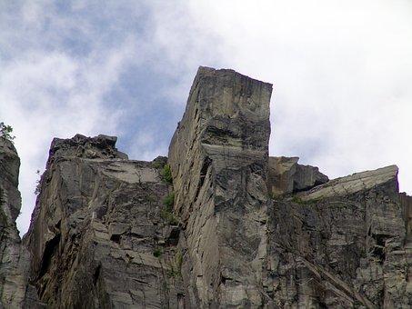 Norway, Rock, Preikestolen, Lysefjorden, Fjord, Stone