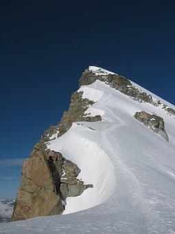 Allalinhorn, Four Thousands, Hohlaubgrat Ridge