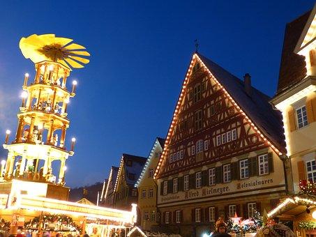 Christmas Pyramid, Large, Light, Esslingen