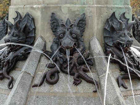 Statue, Devil, Demon, Lucifer, Beelzebub, Removal