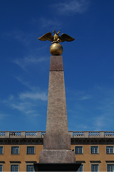 Helsinki, Statue, Double Headed Eagle, Market Square