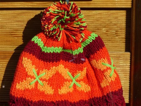 Cap, Colorful, Orange, Cheerful, Warm, Knitted