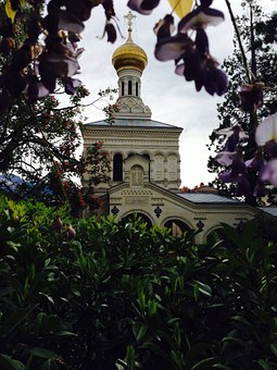 Church, Vevey, Switzerland, Ortodox, Faith, Dome