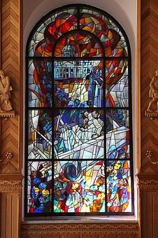 Stained Glass Window, Window, Glass, Pallottine Church