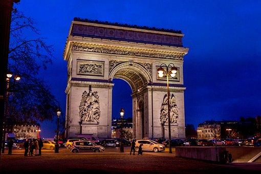 Arc De Triomphe, Paris, France, Monument