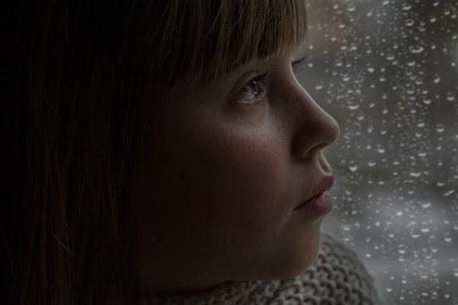Person, Human, Girl, Female, Face, View, In Thoughts