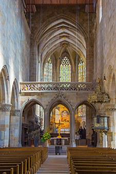 Church, Rood Screen, Esslingen, St Dionys, Middle Ages