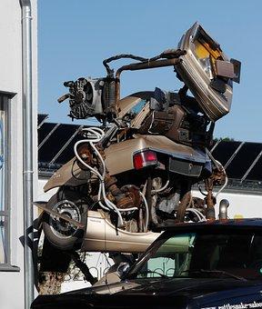 Bumper Sculpture, Scrap Cars, Scrap, Auto, Sculpture