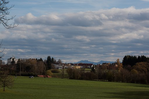 Park, Settlement, Forest, Field, Distant View