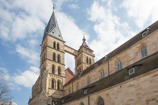 Church, Tower, Steeple, Esslingen, St Dionys