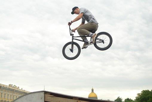 Bicycle, Trick, Russia, Bmx, Extreme, Stopt, Jump