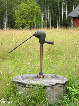 Well, Pump, Countryside, Finnish, Meadow, Savonlinna