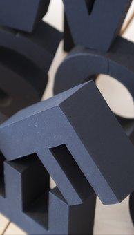 Letters, Sculpture, Symbol, Sign, Alphabet, Stone
