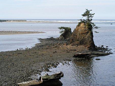 Siletz Bay, Oregon, Coast, Pacific, Rock, Taft, Beach