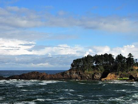 Depoe Bay, Oregon, Coast, Ocean, Pacific, Sea, Bay