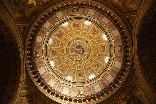 Church, Dome, Catholic, Budapest, St Stephen's Basilica