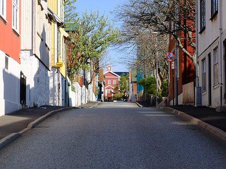 Street, Road, Faroe Islands, Summer, Steep