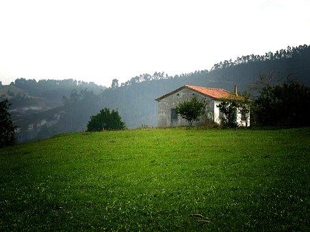 Cantabria, House, Field, Nature, Meadows, Spain, Green