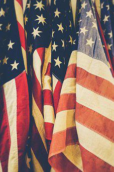 American Flags, Close-up, Flags